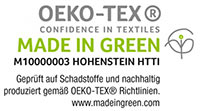 Biederlack OEKO-TEX Made in Green