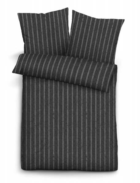 Biberna Bettwäsche Melange-Flanell | 20 titanium